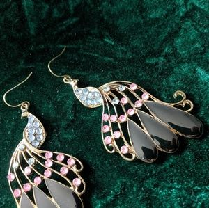3 for $10 Jeweled peacock earrings